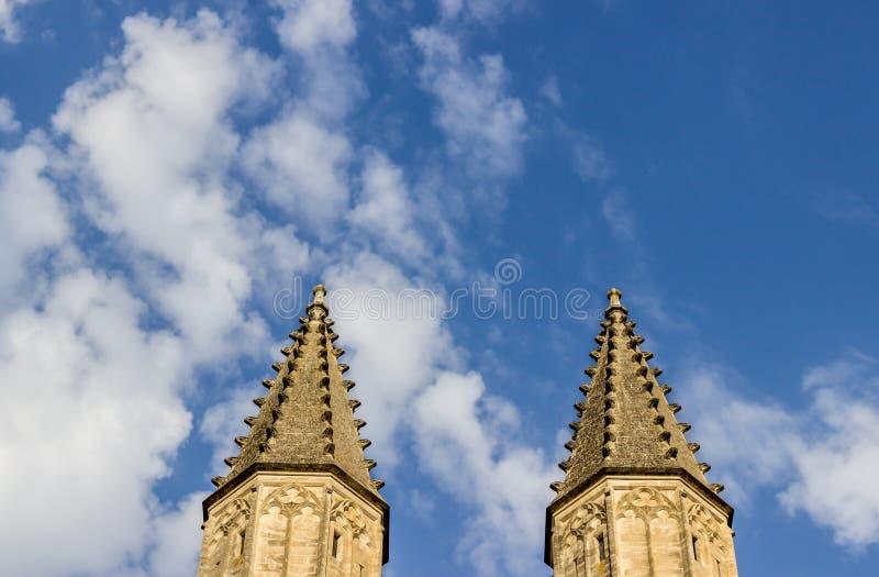 Torres dos papes do DES de Palais imagens de stock