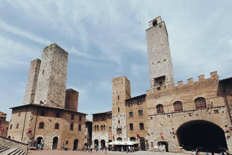 Torres e arquitetura de San Gimignano, Itália imagem de stock royalty free