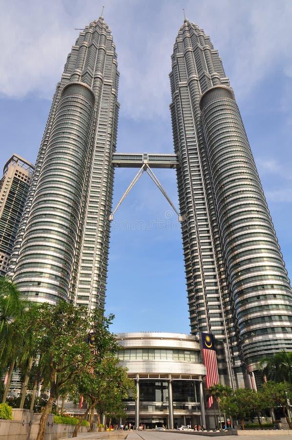 Torres gémeas de Petronas em Kuala Lumpur, Malaysia fotografia de stock
