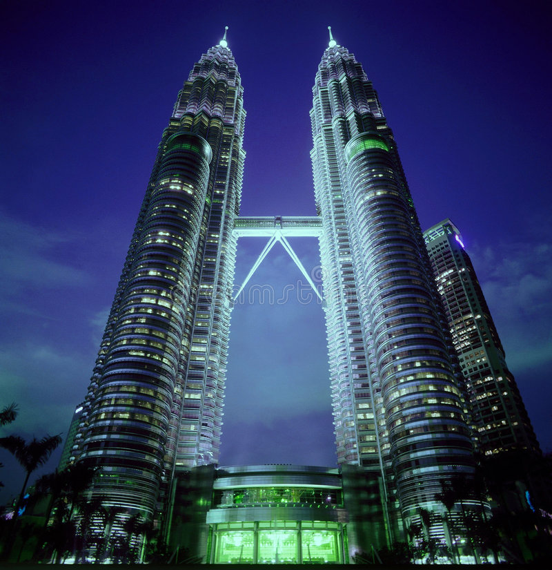 Torres gémeas em Malaysia fotografia de stock royalty free