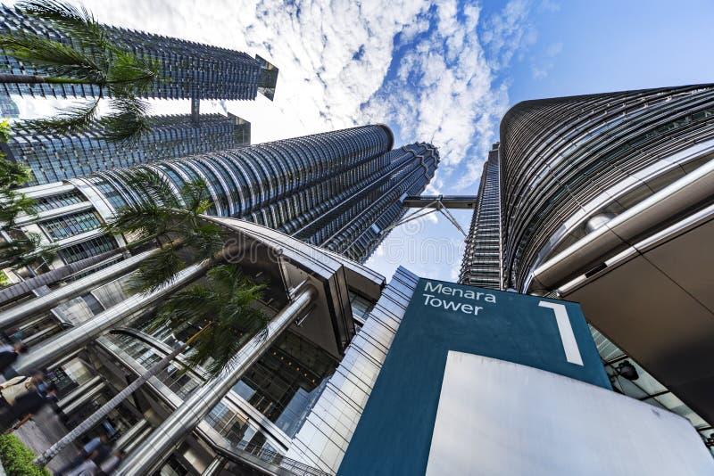 Torres gêmeas número 1 de Petronas fotografia de stock royalty free