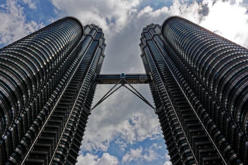 Torres g?meas de Petronas, Kuala Lumpur, Malaysia imagens de stock