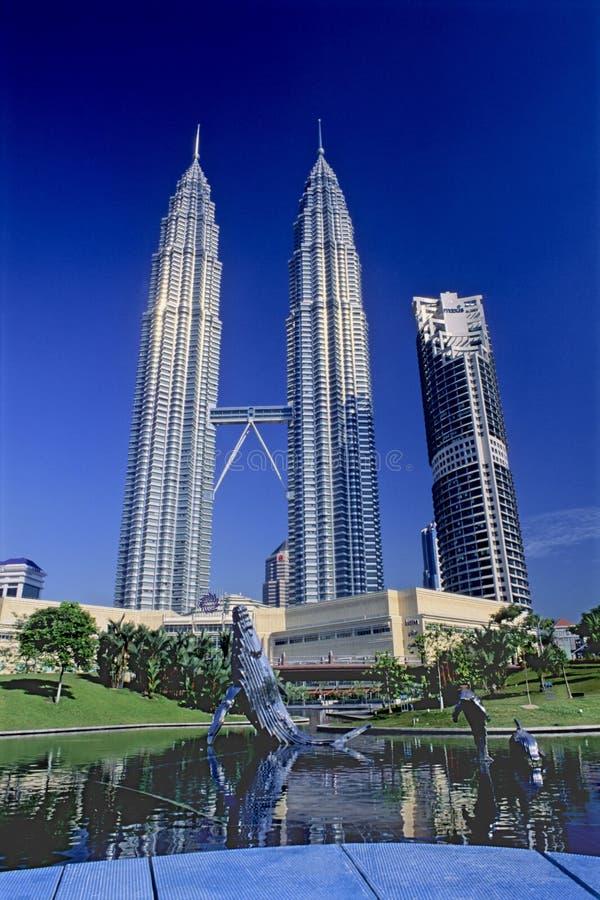 Torres gemelas de Petronas imágenes de archivo libres de regalías