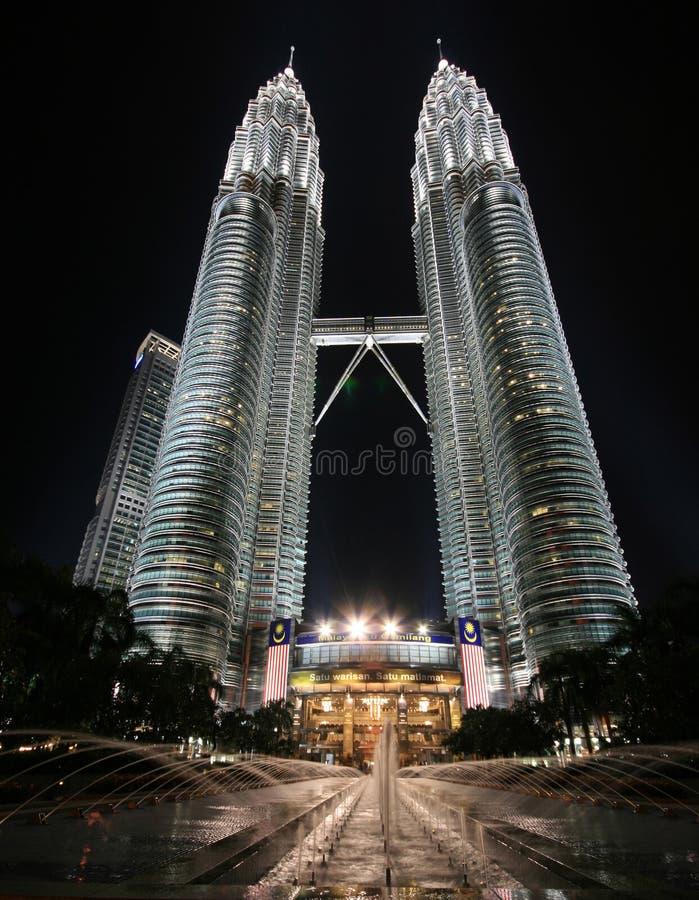 Torres gemelas de Petronas fotografía de archivo libre de regalías