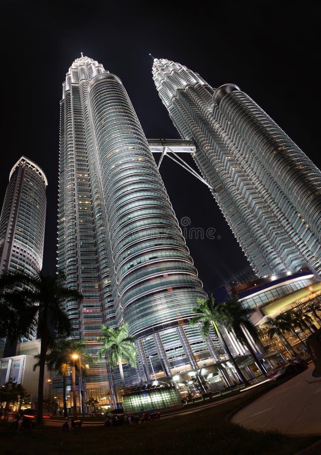 Torres gemelas en Malasia fotos de archivo libres de regalías