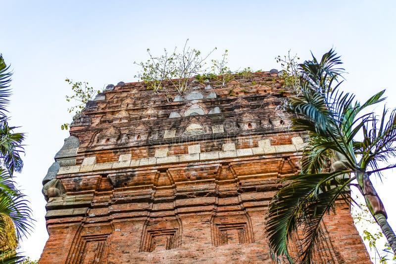Torres gemelas - una arquitectura antigua del Cham, Quy Nhon, Viet Nam fotos de archivo