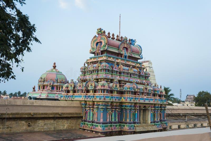 Torres internas del templo de Srirangam fotos de archivo