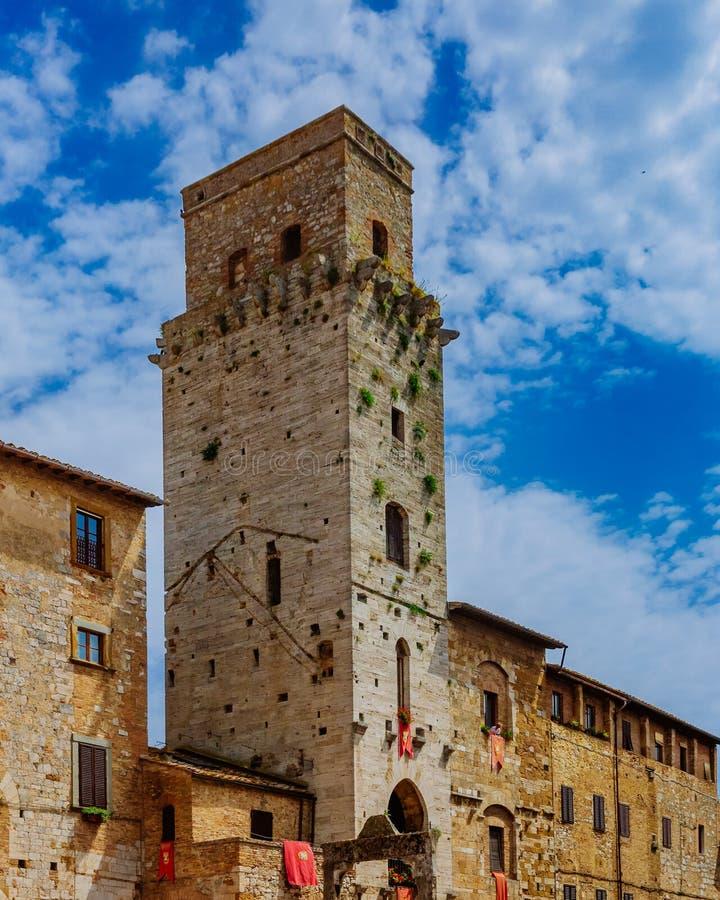 Torres medievales y arquitectura de San Gimignano, Italia fotografía de archivo libre de regalías