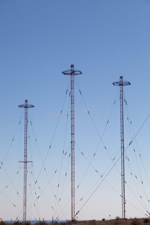 Torres militares de la telecomunicación imágenes de archivo libres de regalías