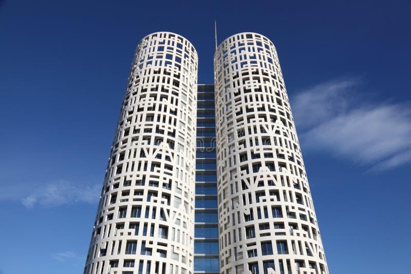 Torres modernas de la oficina en Algeciras fotografía de archivo