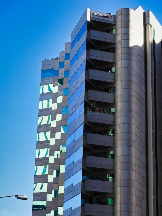 Torres modernas de la oficina, Perth CBD, Australia occidental fotos de archivo libres de regalías