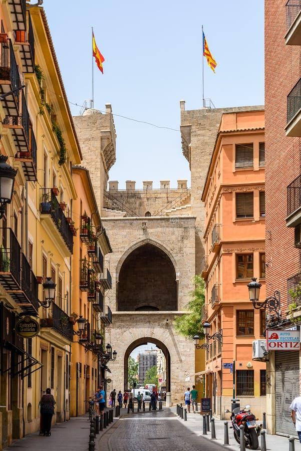 Torres (Türme) de Quart In Valencia lizenzfreie stockfotos
