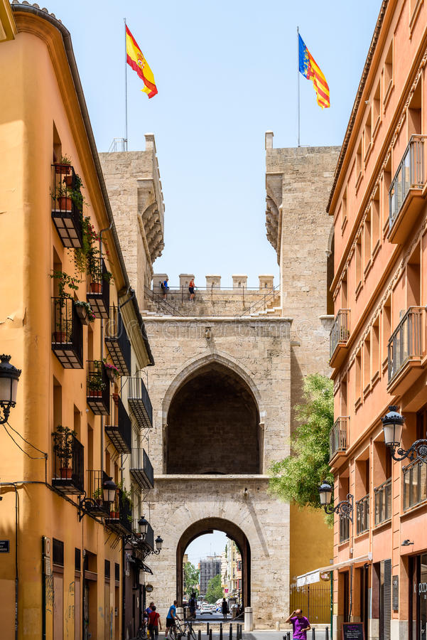 Torres (Torens) DE Quart In Valencia royalty-vrije stock foto's