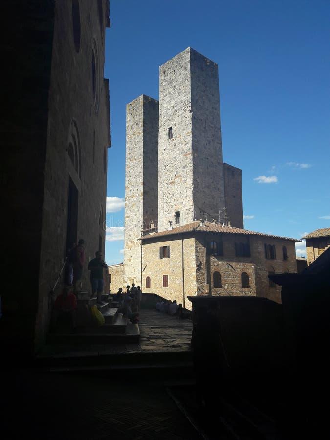 Torres Toscana del torri de San Gimignano imagenes de archivo