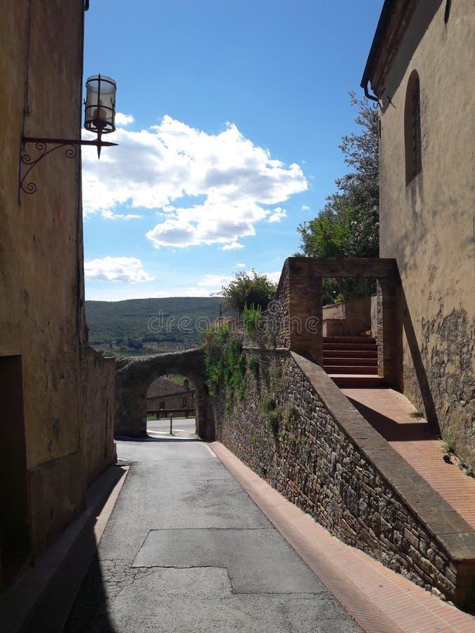 Torres Toscana del torri de San Gimignano fotos de archivo
