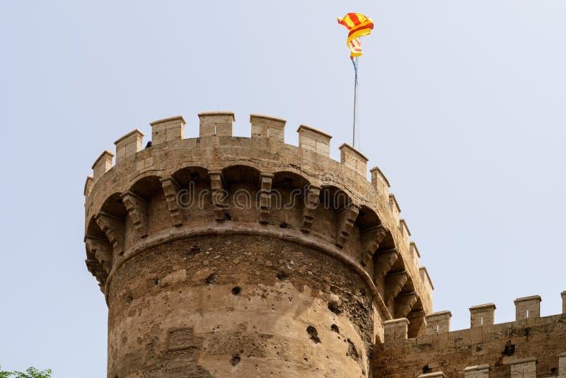 Torres & x28; Towers& x29; DE Quart In Valencia royalty-vrije stock fotografie