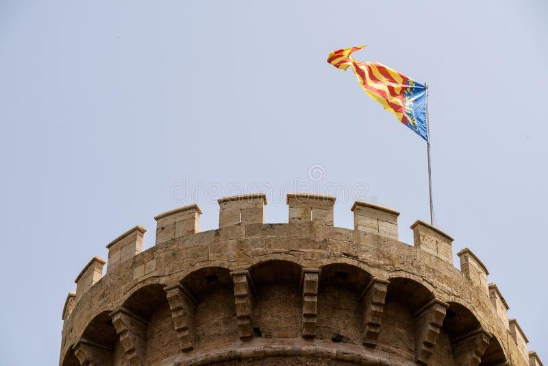 Torres & x28; Towers& x29; DE Quart In Valencia royalty-vrije stock afbeeldingen