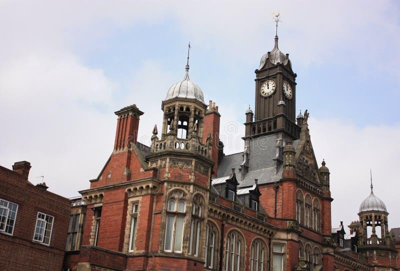Torres viejas del centro de la ciudad de York imagen de archivo