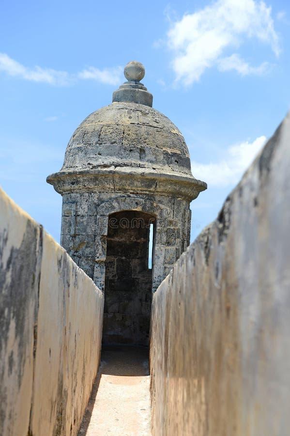 Torreta em San Juan velho foto de stock