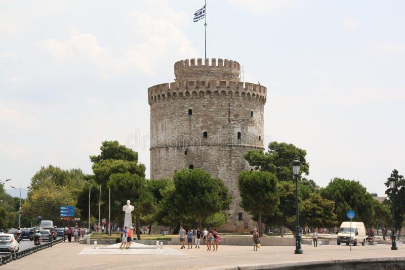 Torretta bianca a Salonicco fotografia stock libera da diritti