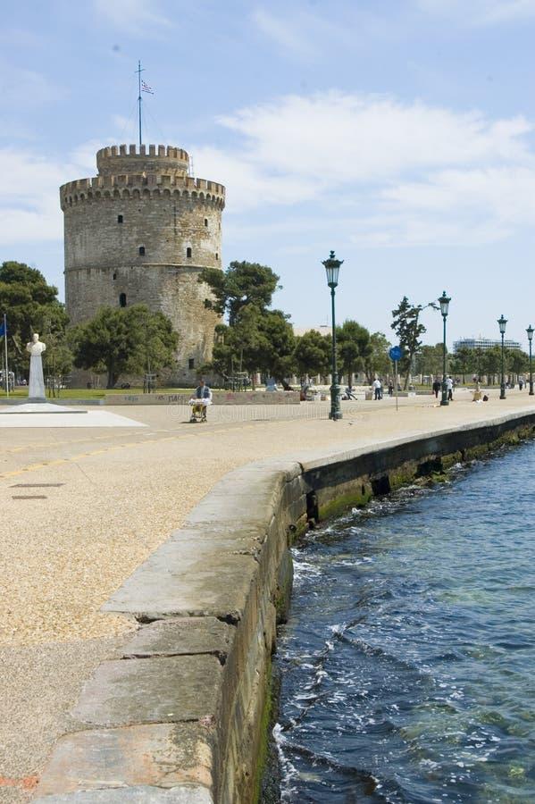 Torretta bianca a Salonicco fotografia stock