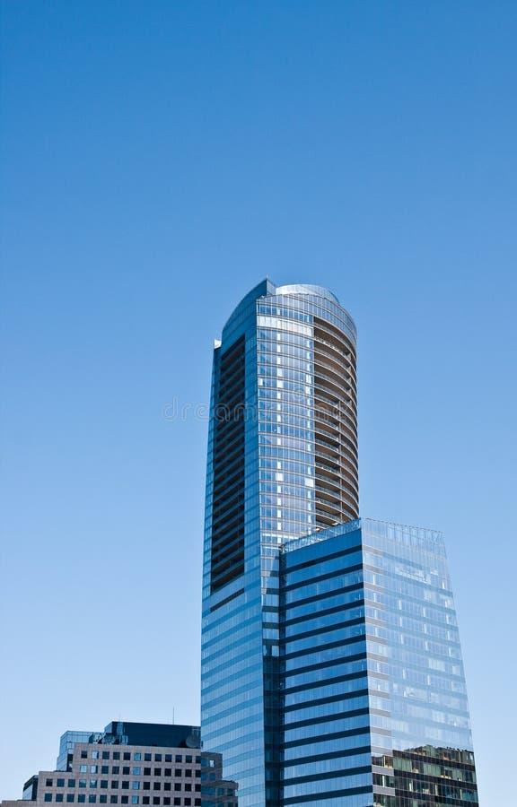 Torretta blu rotonda dall'ufficio del Square Blue immagine stock libera da diritti