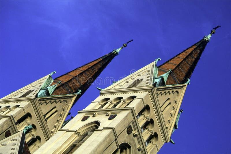 Torretta Chiesa/dell Austria Immagini Stock