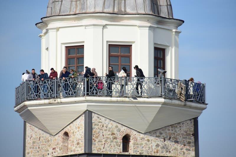 Torretta Costantinopoli delle ragazze fotografie stock