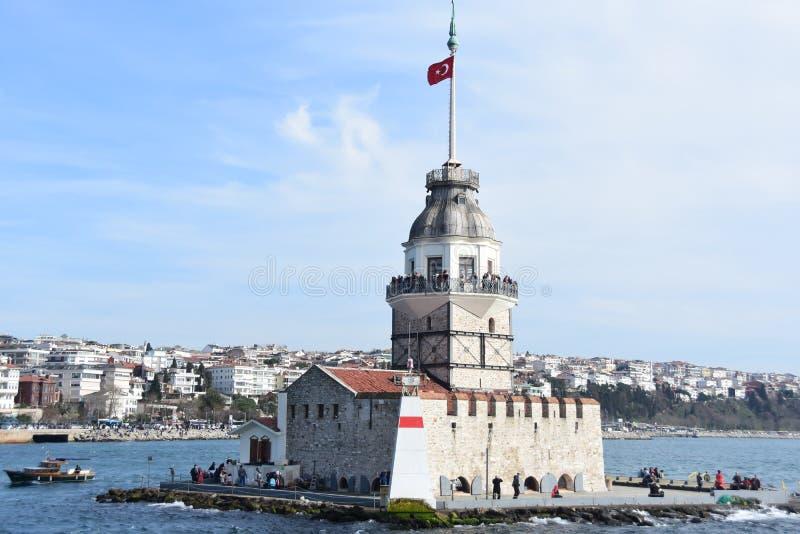 Torretta Costantinopoli delle ragazze fotografia stock libera da diritti