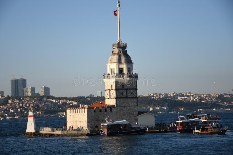 Torretta Costantinopoli Turchia della ragazza immagine stock libera da diritti