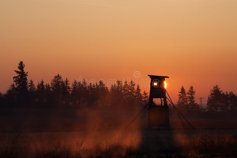 Torretta dei cacciatori fotografie stock libere da diritti
