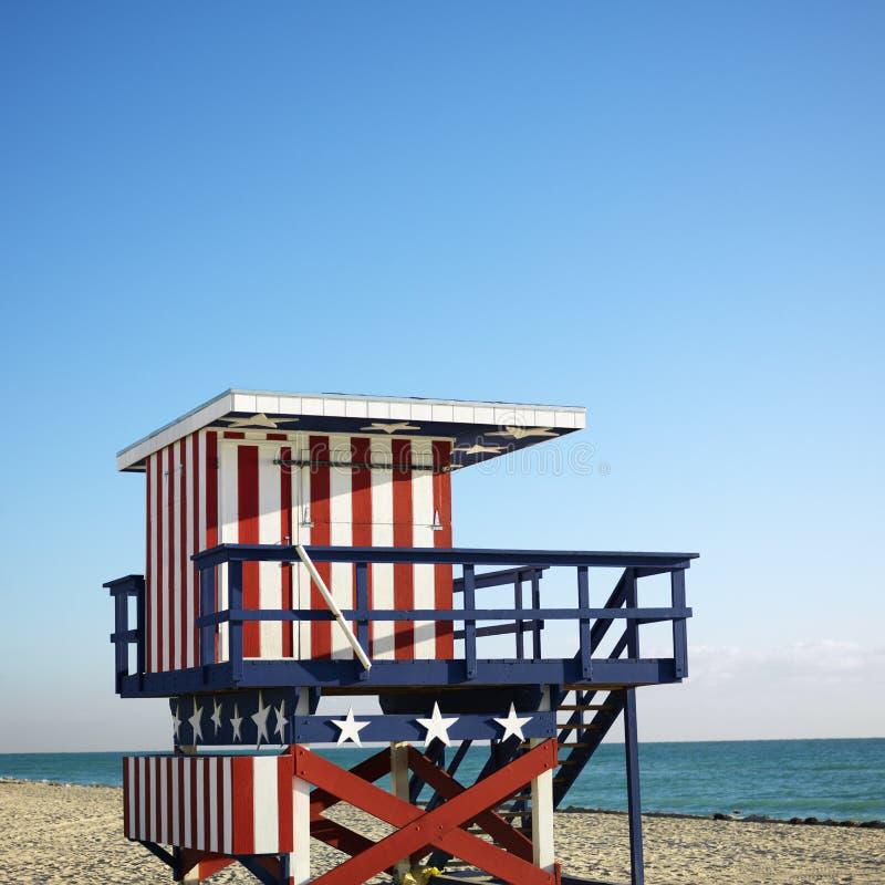 Torretta del bagnino a Miami immagini stock libere da diritti