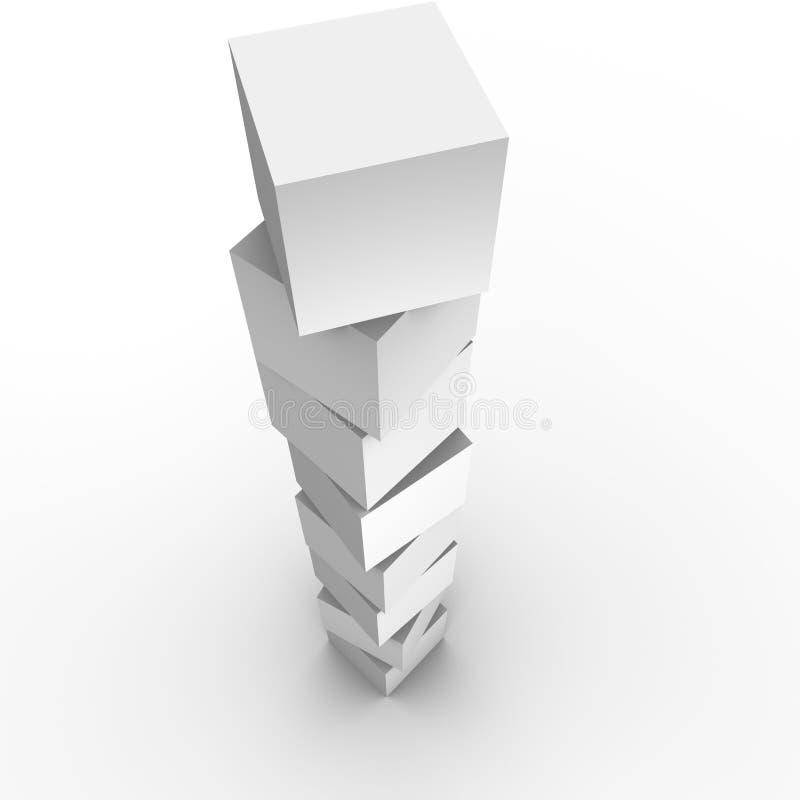 Torretta del blocco illustrazione di stock