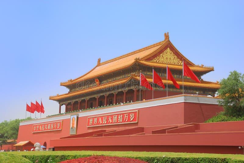 Torretta del cancello del Tiananmen fotografia stock libera da diritti