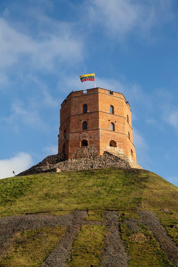 Torretta del castello di Gediminas a Vilnius immagini stock
