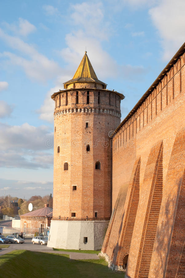Torretta del Kremlin in Kolomna fotografia stock