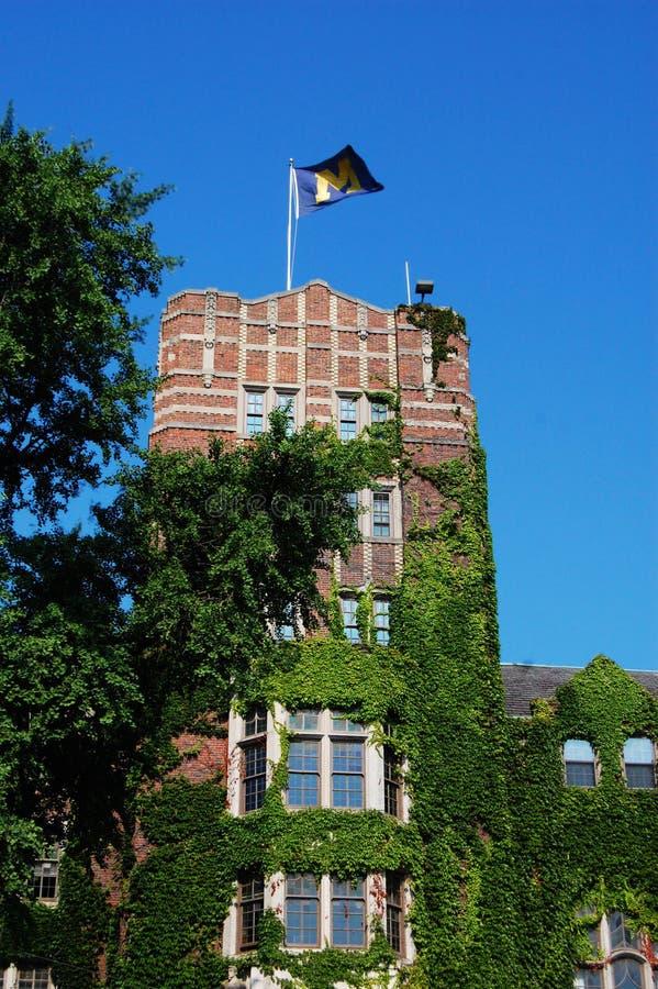Torretta del sindacato dell'Università del Michigan immagini stock libere da diritti