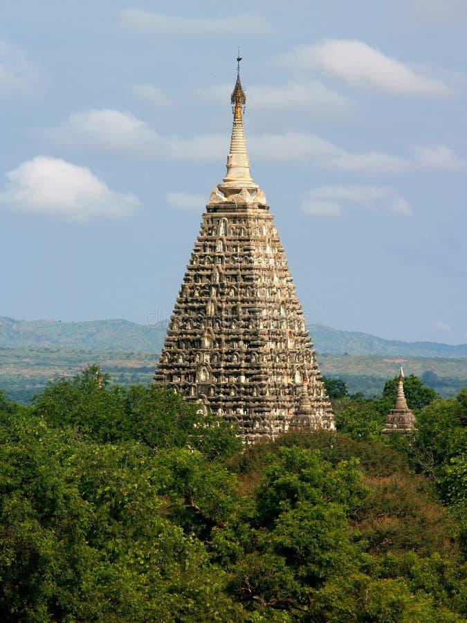 Torretta del tempiale buddista di Mahabodhi, Bagan fotografia stock
