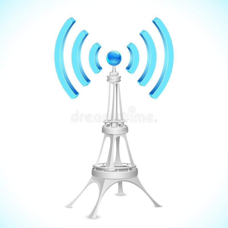 Torretta del Wi-Fi illustrazione vettoriale