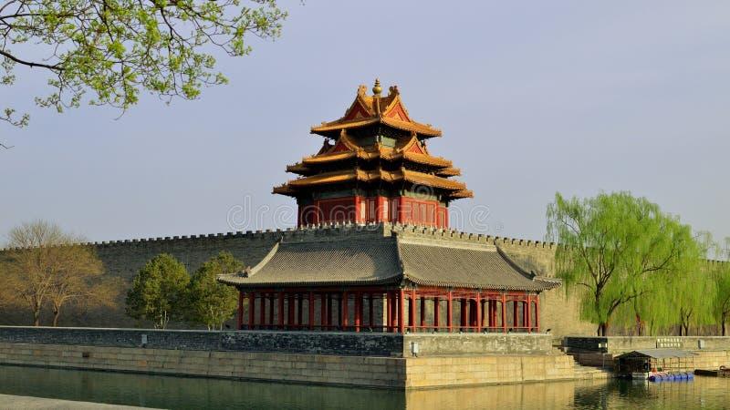 Torretta della Città proibita, Pechino, Cina fotografia stock