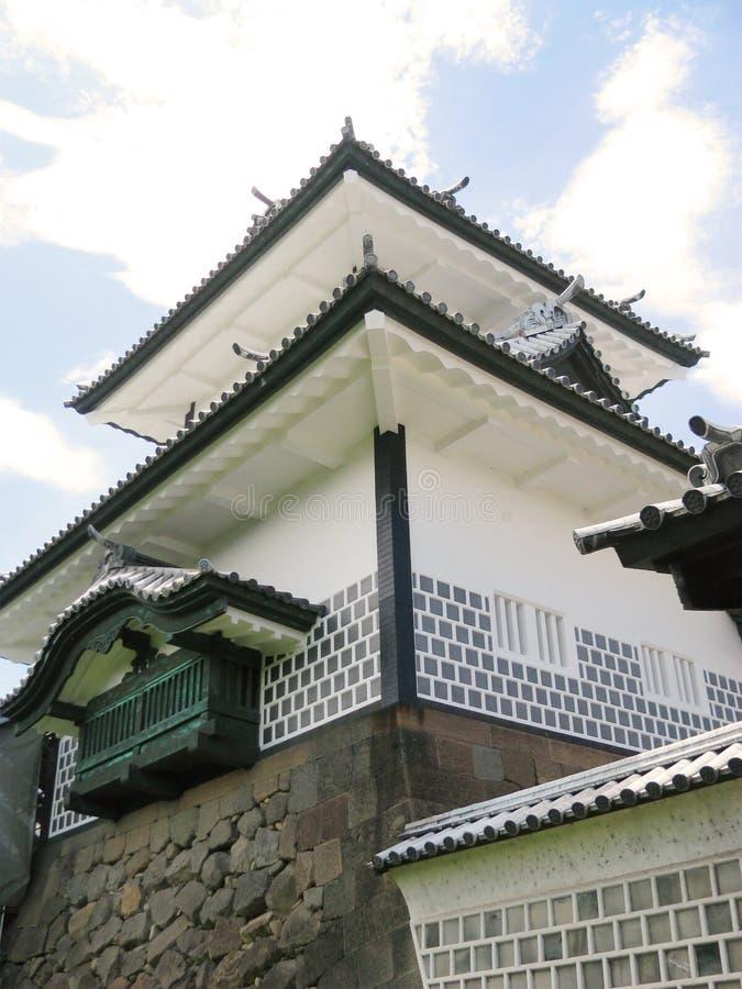 Torretta della difesa del castello di Kanazawa fotografie stock
