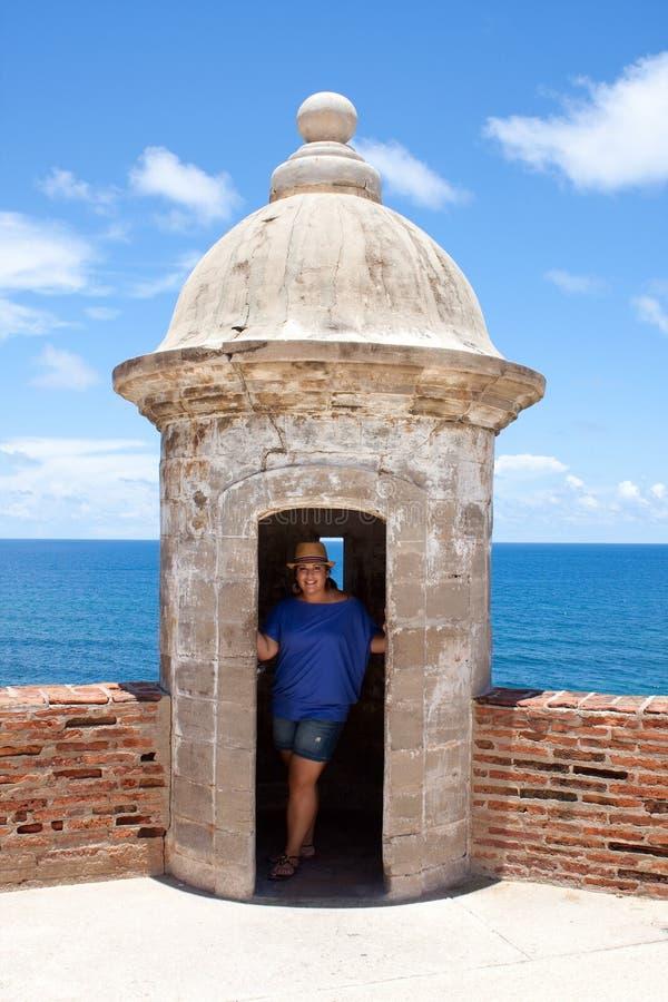 Torretta della fortificazione del San Cristobal immagine stock