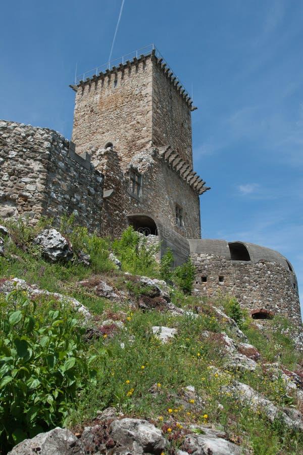 Torretta della fortificazione Diosgyor immagine stock