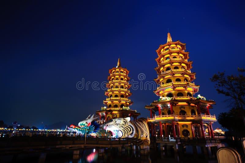 Torretta della tigre del drago di kaohsiung immagini stock libere da diritti