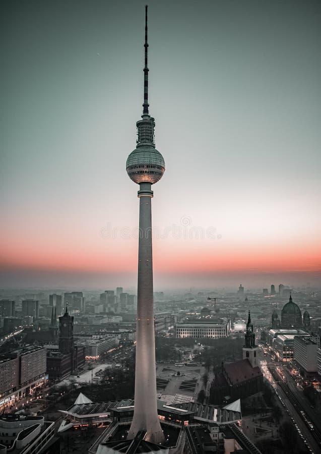 Torretta della TV, Berlino immagine stock