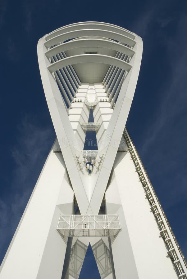 Torretta dello Spinnaker a Portsmouth. L'Inghilterra immagine stock libera da diritti