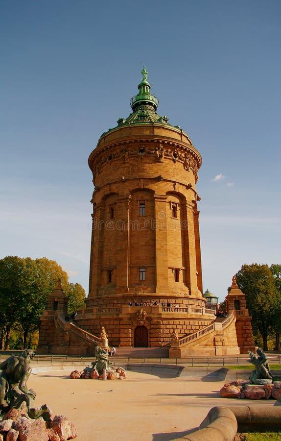Torretta di acqua a Mannheim, Germania fotografia stock