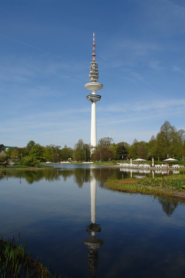 Torretta di Amburgo TV fotografia stock