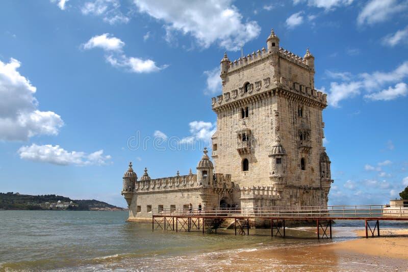 Torretta di Belem, Lisbona, Portogallo fotografia stock libera da diritti