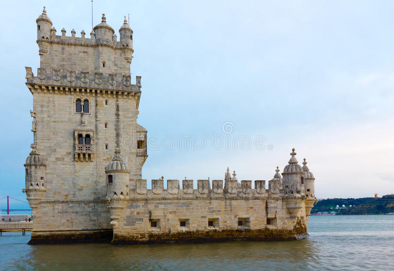 Torretta di Belem (Torre de Belem), Lisbona, Portogallo fotografie stock libere da diritti